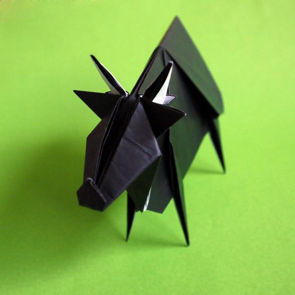 折り紙 牛 十二支