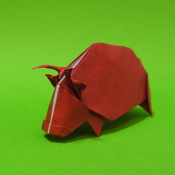 折り紙 牛